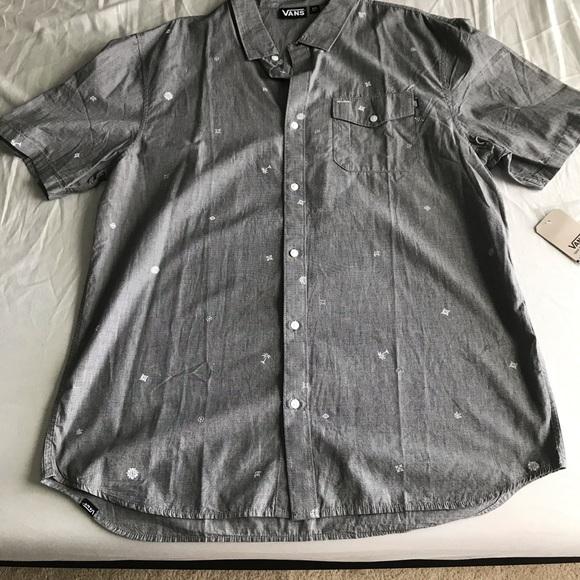 Vans Other - Vans shirt sleeve button down shirt grey